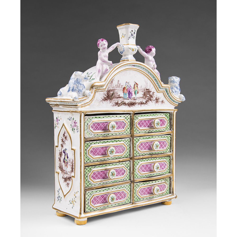 18th C. French Faience Bureau, Sceaux
