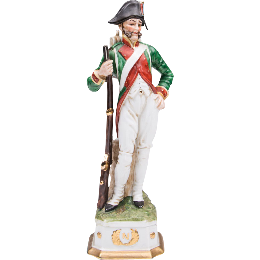 Capodimonte Porcelain Napoleonic Soldier, Infantryman