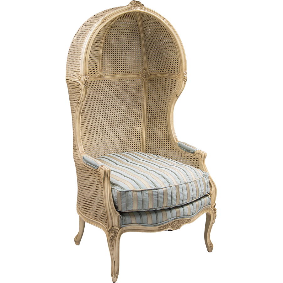 Vintage Hooded Porter's Chair Inset With Cane