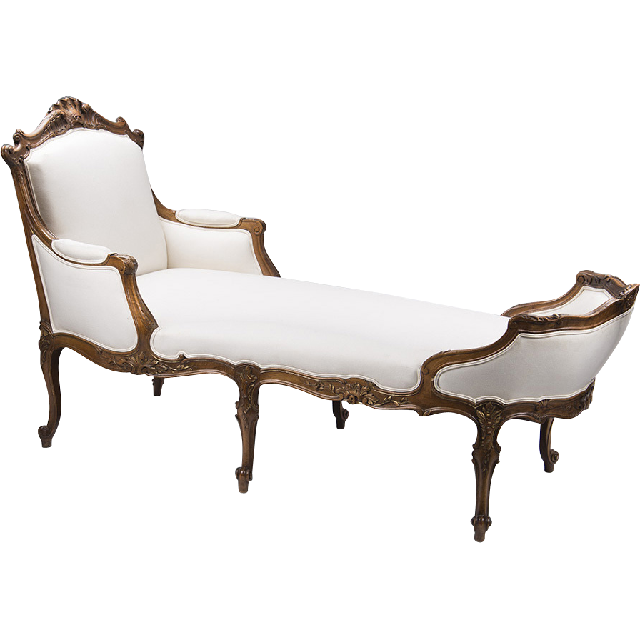 19th c hand carved french la duchesse brisee or chaise lounge from piatik on ruby lane. Black Bedroom Furniture Sets. Home Design Ideas