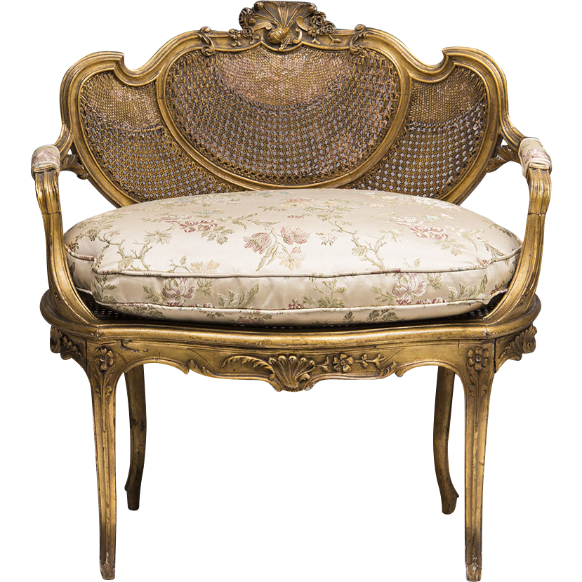 19th c french louis xv vanity bench or canape sold on for Canape orientale