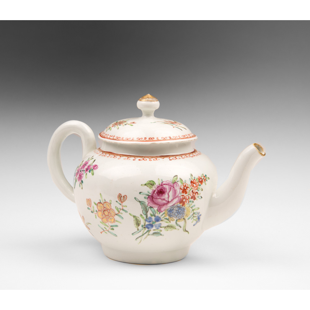 Dr. Wall, First Period Worcester Teapot, Chinoiserie Style