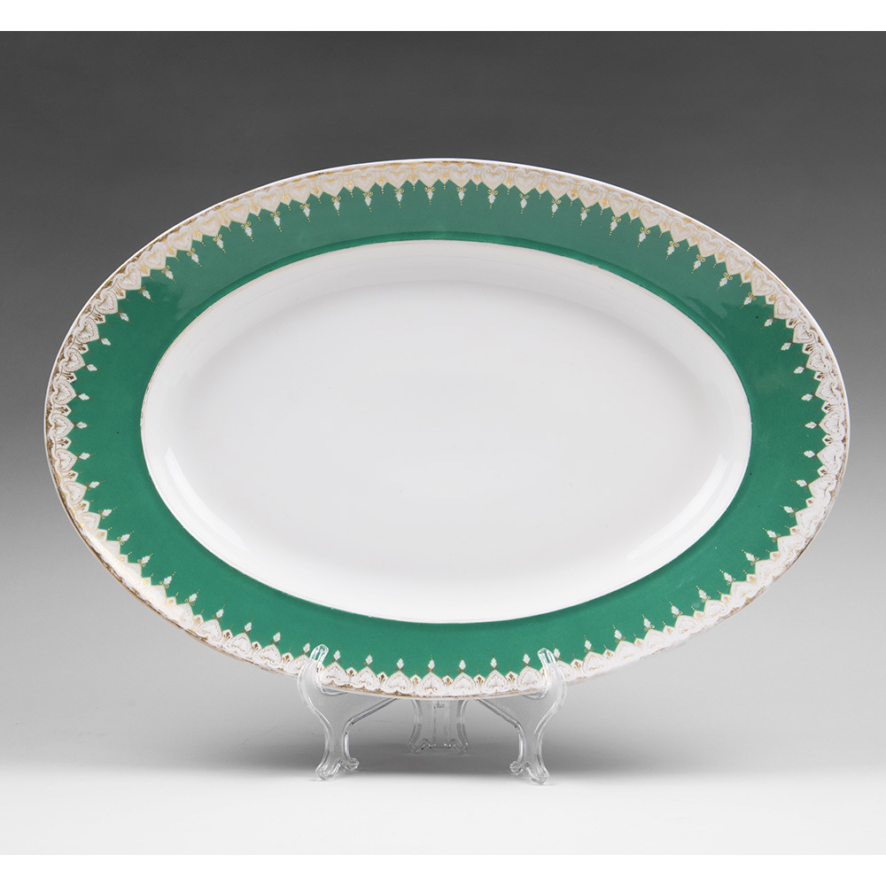 19th C. Vieux Paris Porcelain Oval Serving Platter
