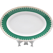 19th C. Vieux Paris Porcelain Oval Serving Platter