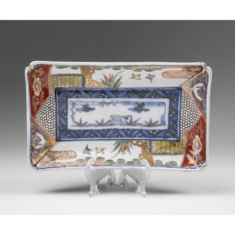 19th C. Japanese Imari Rectangular Bulb Pot or Bulb Dish
