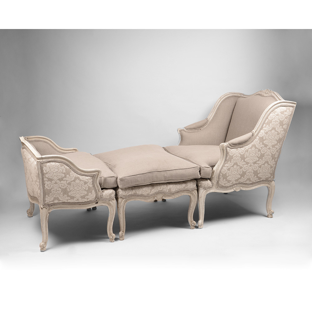 French Regence Style Belle Epoque Duchesse Brisee Or Chaise