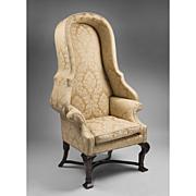 Irish Georgian Style Hooded Porter's Chair