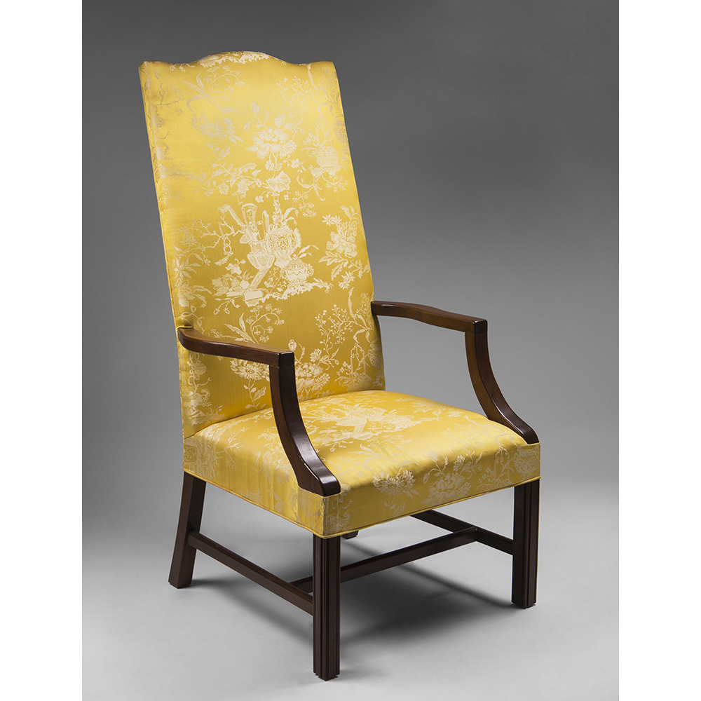 Late 19th C. Federal Style Mahogany Lolling Chair