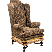 Late 18th C. William & Mary Wing Back Chair
