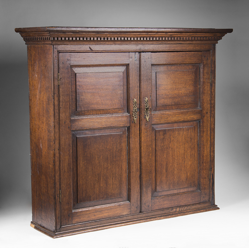Late 18th C. Georgian Hanging Wall Cupboard