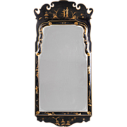 Vintage Friedman Brothers Queen Anne Style Chinoiserie Mirror