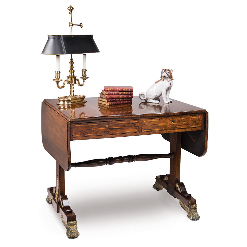 Period English Regency Rosewood Sofa Table