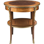 French Régence Style Early 20th Century Inlaid Side Table