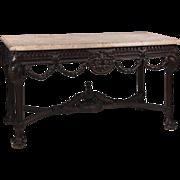Hand Carved Irish Georgian Style Side Table