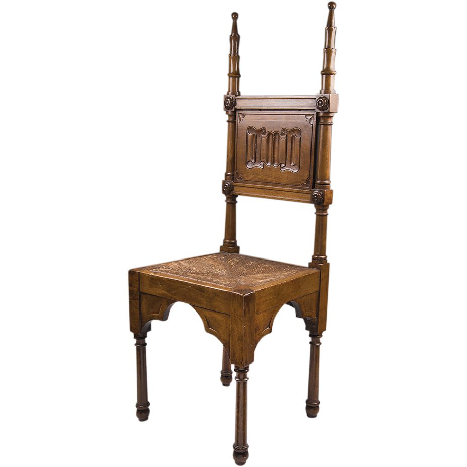 19th C. English Walnut Hall Chair
