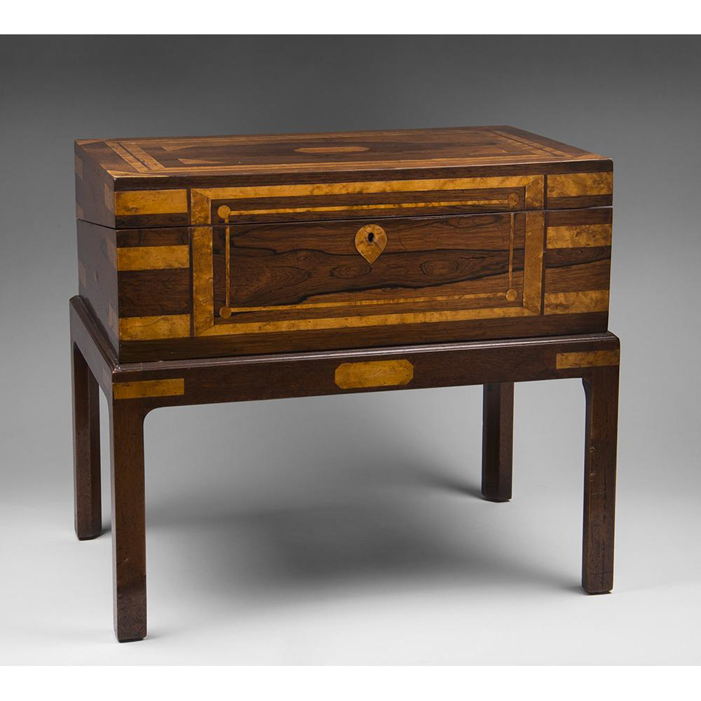 English Regency Rosewood Writing Box Or Lap Desk