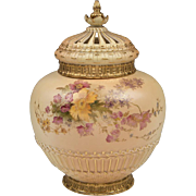 Royal Worcester Potpourri Vase, Liner, And Cover, 1909