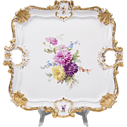 German Porcelain Square Meissen Tray