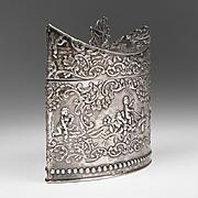 1900 Dutch Silver Embossed Tea Caddy