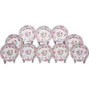 Set of 10 Mintons Pink Imari Pattern Luncheon Plates