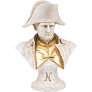 German Porcelain Napoleon Bust In Capodimonte Style