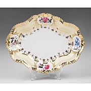 1820 Chamberlain Worcester Lozenge Shaped Dish, Regent Body