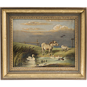 19th C. Oil Painting On Canvas, Edward Lloyd, 1894