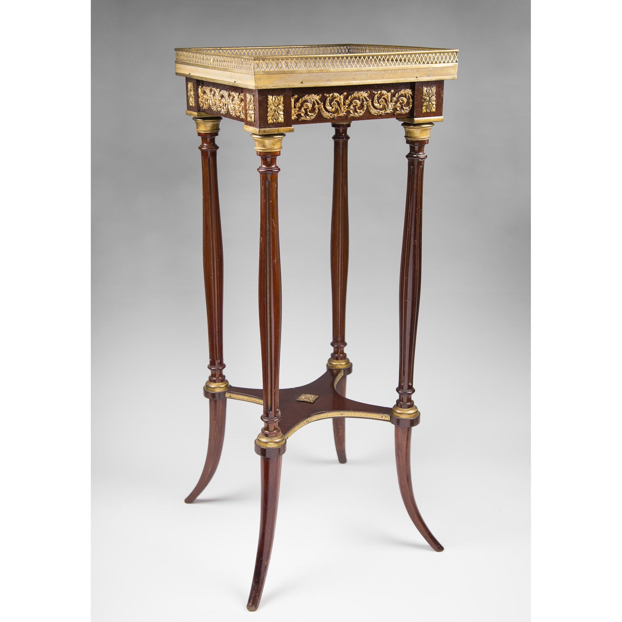 19th C. Louis XVI Style Ormolu Side Table Or Fern Stand