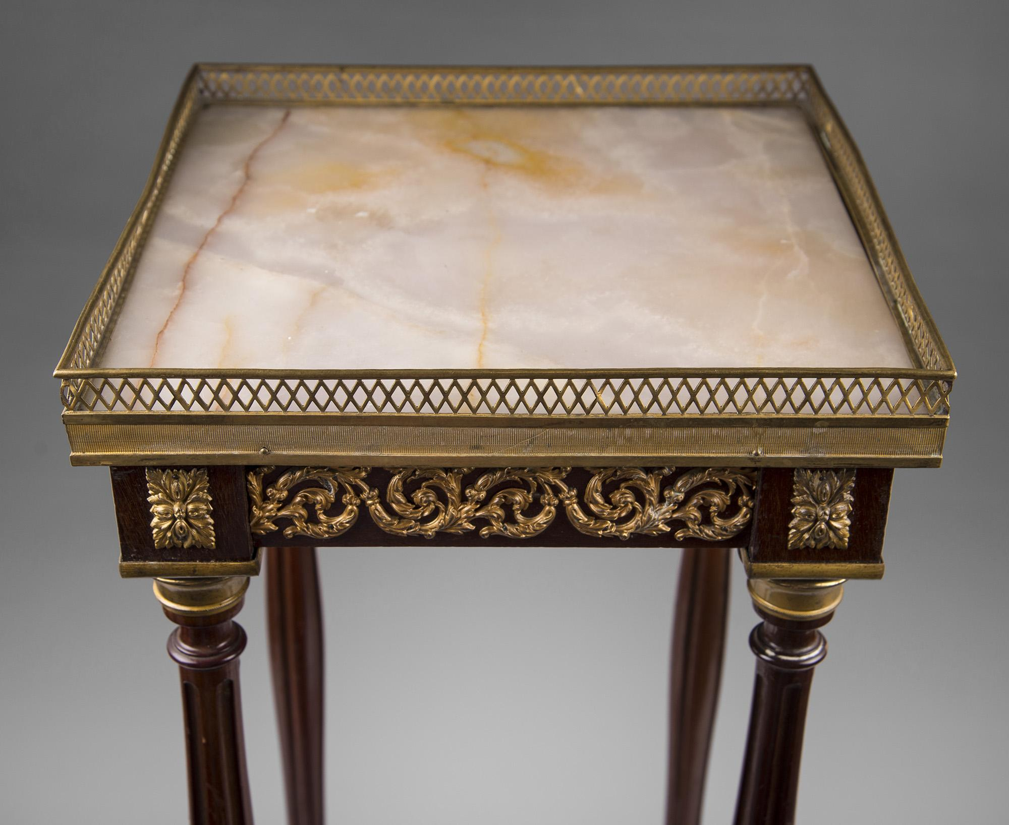 19th C Louis XVI Style Ormolu Side Table Fern Stand from