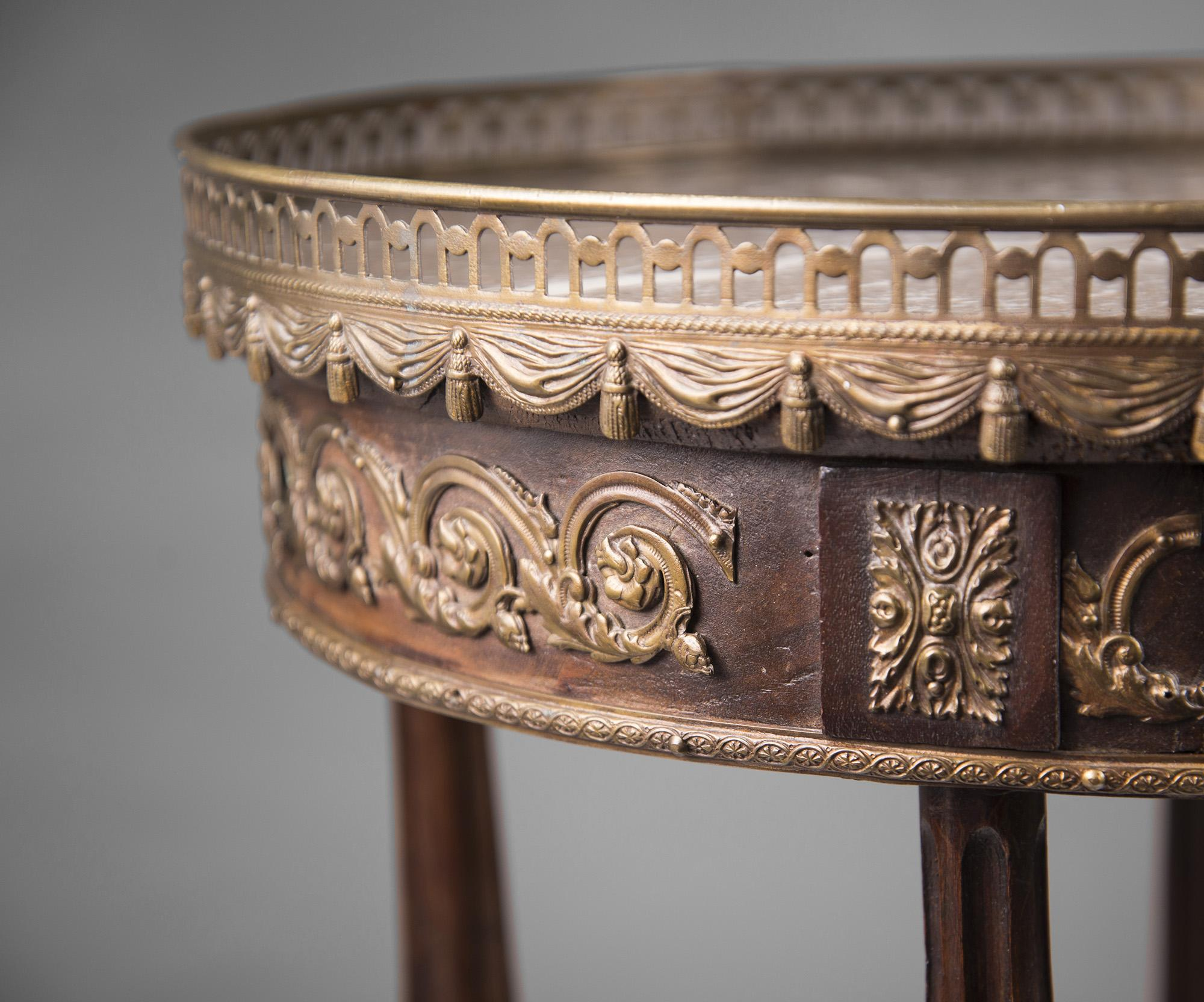 Early 20th C Louis XVI Style Ormolu Gueridon Side Table from