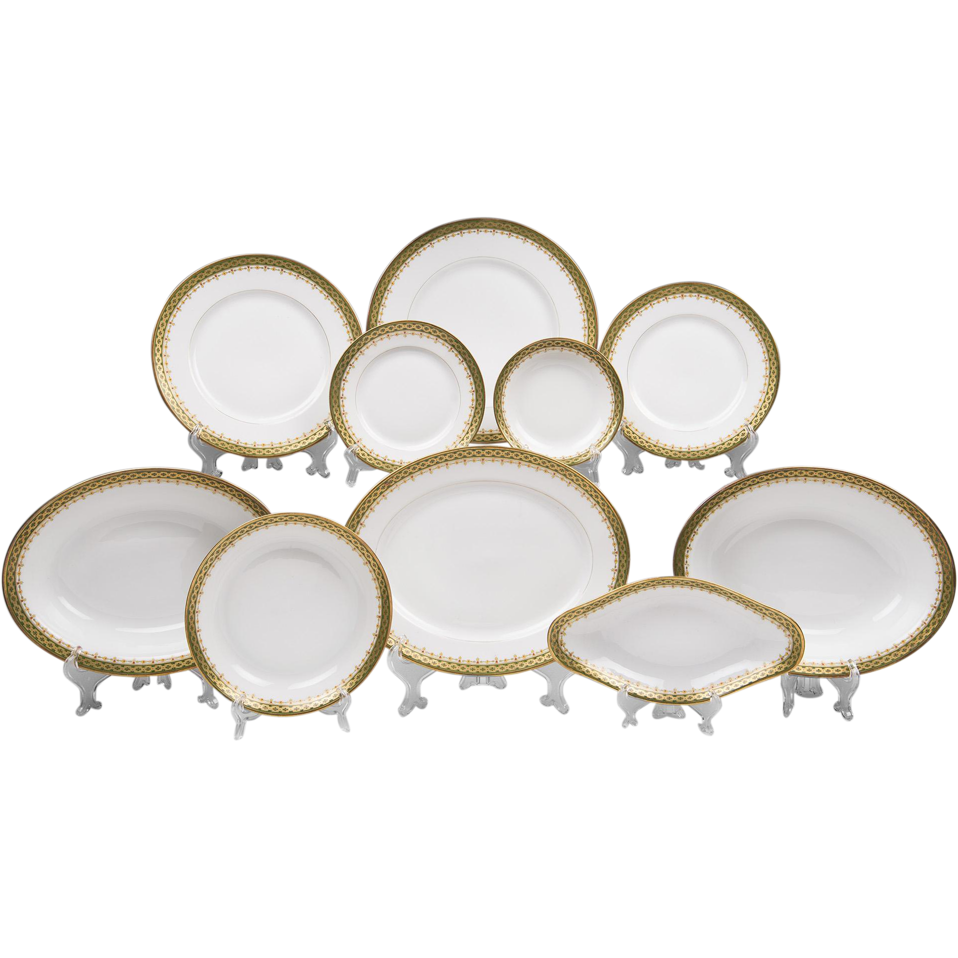 Set of 56 Pieces of French Limoges Bernardaud China