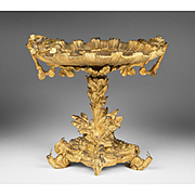 19th C. French Gilt Bronze Tazza With Exceptional Detail