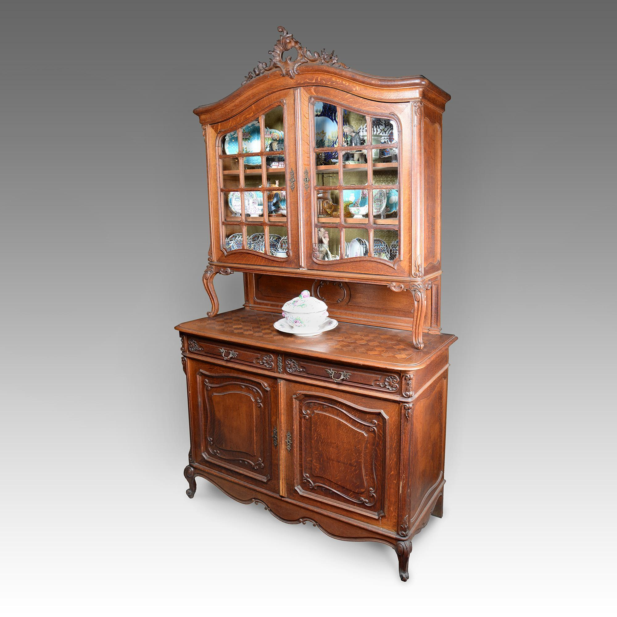 19th C. French Provincial Walnut Buffet à Deux-Corps