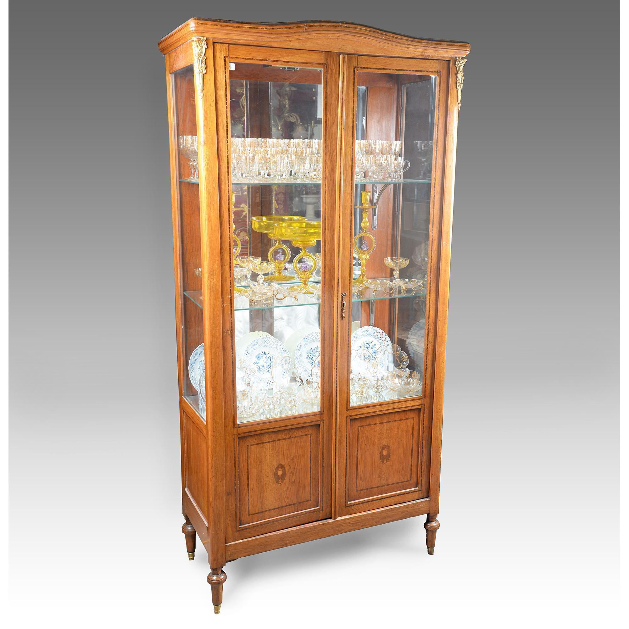 Early 20th C. Louis XVI Vitrine Or China Cabinet