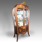 R.J. Horner Vernis Martin Style Curio Cabinet Or Vitrine