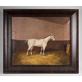1888 Equestrian Oil Painting By James Albert Clark