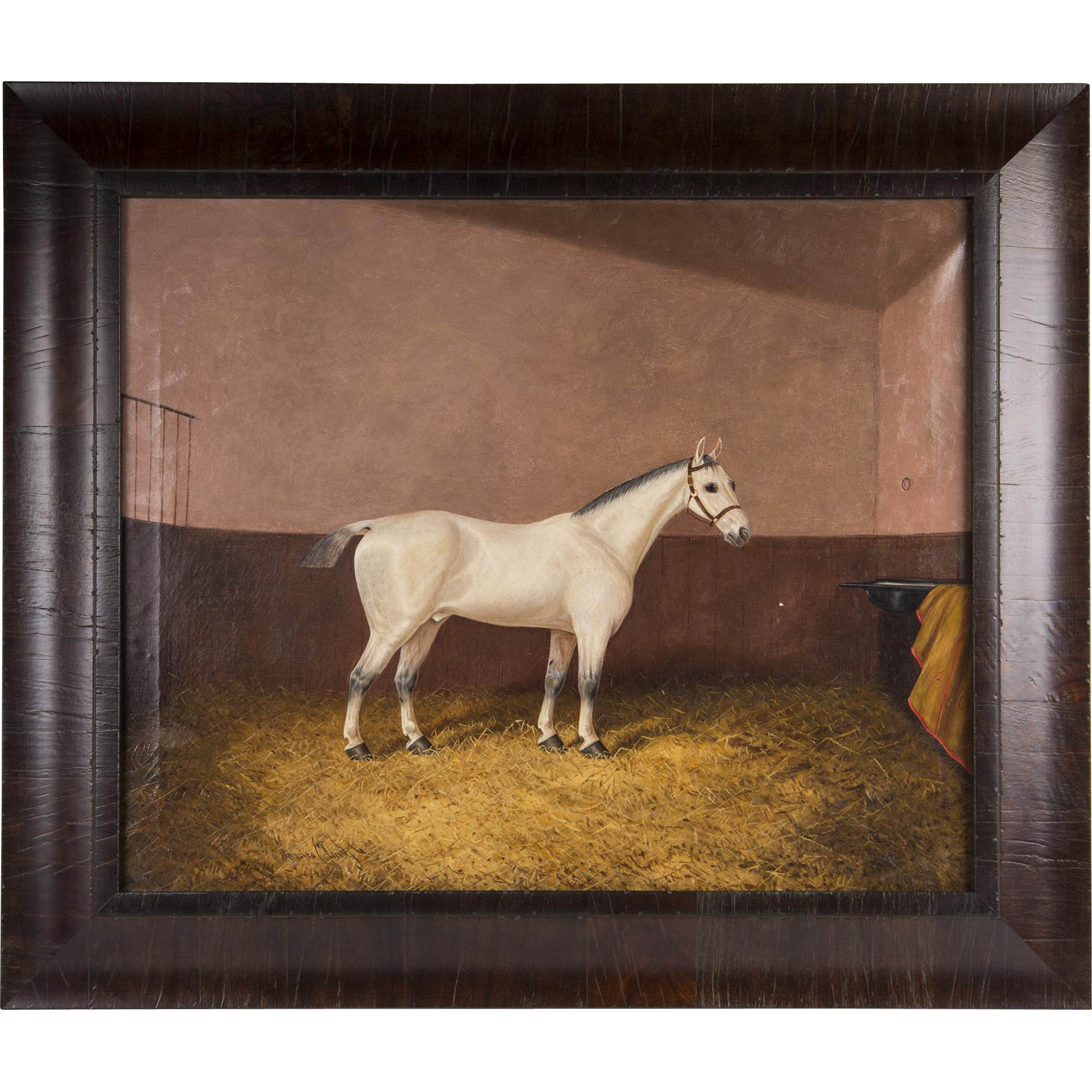 1888 Equestrian Oil Painting By James Albert Clark