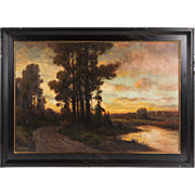 Oil Painting On Canvas By Franklin Booth