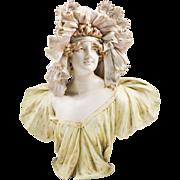 Riessner, Stellmacher & Kessel Teplitz Bohemian Porcelain Bust