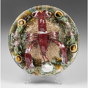 Portugese Palissy Style Lobster Plate