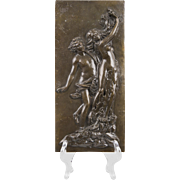 19th C. Bronze Bas Relief Plaque of Daphne & Apollo After Bernini