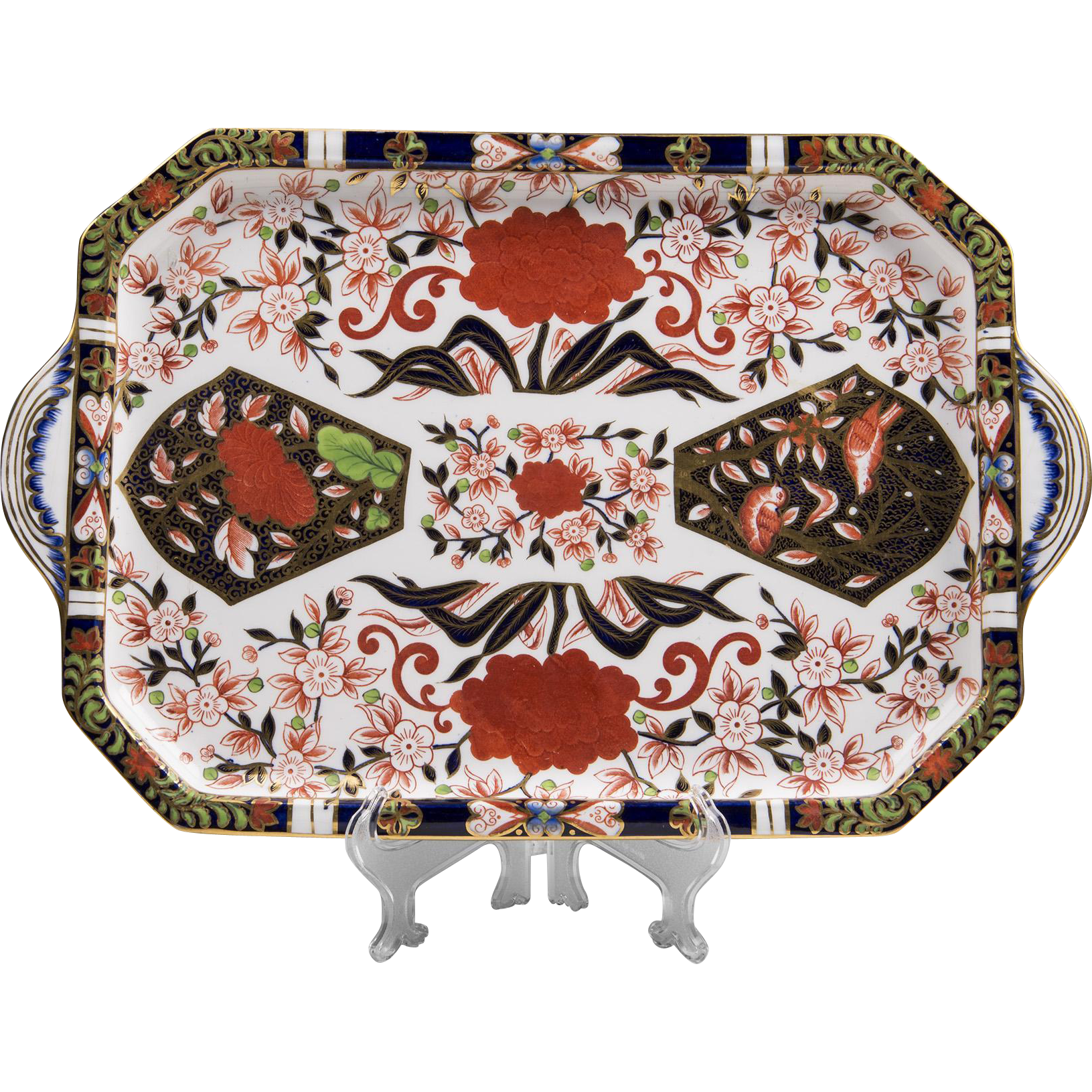 1877 – 1890 Royal Crown Derby Hand Painted Tea Tray Or Platter