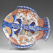 19th C. Japanese Imari Fish Shaped Plate