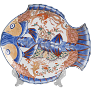 19th C. Japanese Imari Fish Shaped Plate