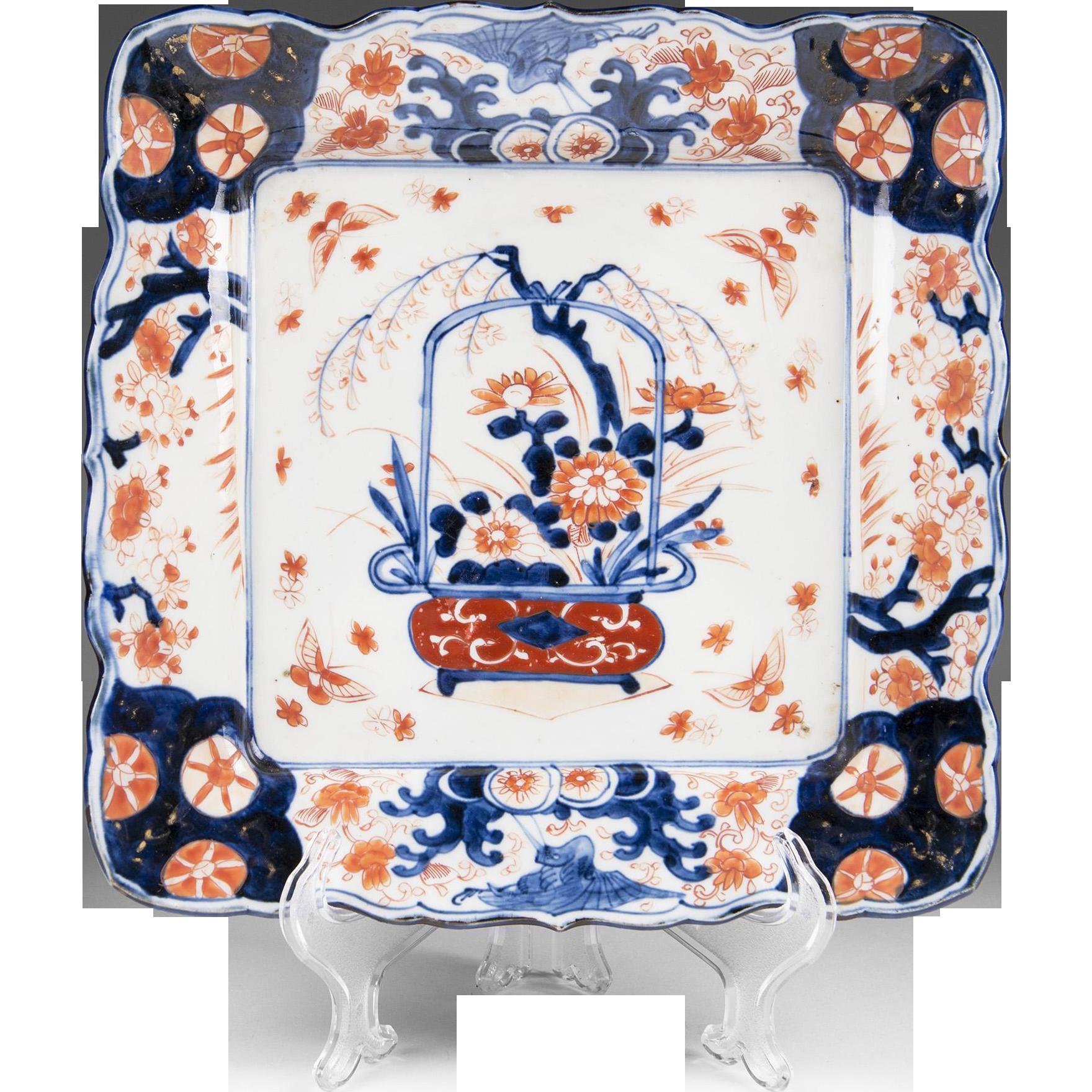 19th C. Japanese Imari Square Dish