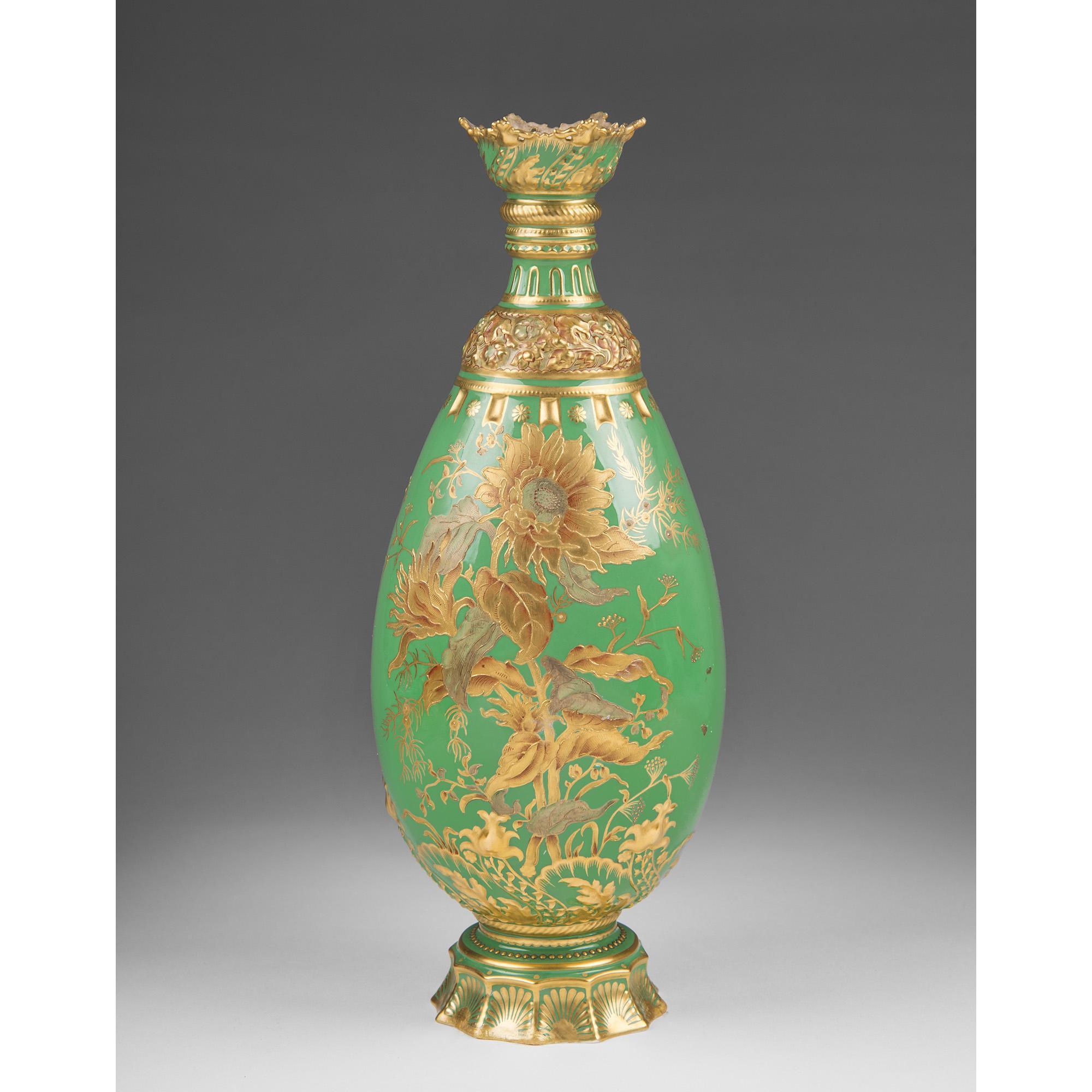1891 Aesthetic Movement Royal Crown Derby Vase