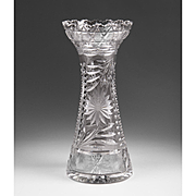 American Brilliant Cut Period Flower Vase