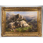 Oil On Canvas Of Highland Sheep By William Peter Watson