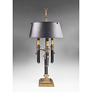 Chapman Bouillotte 3 Light Lamp with Black Tole Shade