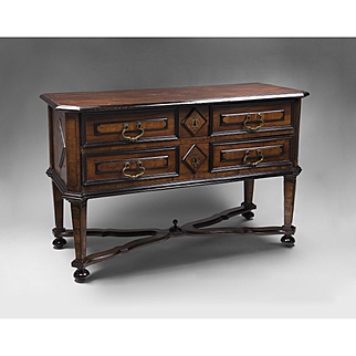 18th C. Northern Italian Two Drawer Commode